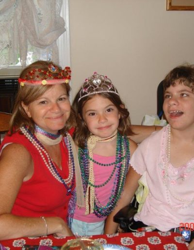Caroline, Elizabeth and my sister Marie playing princesses