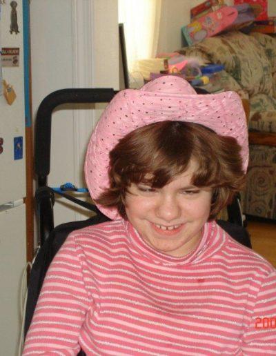 Elizabeth in pink hat